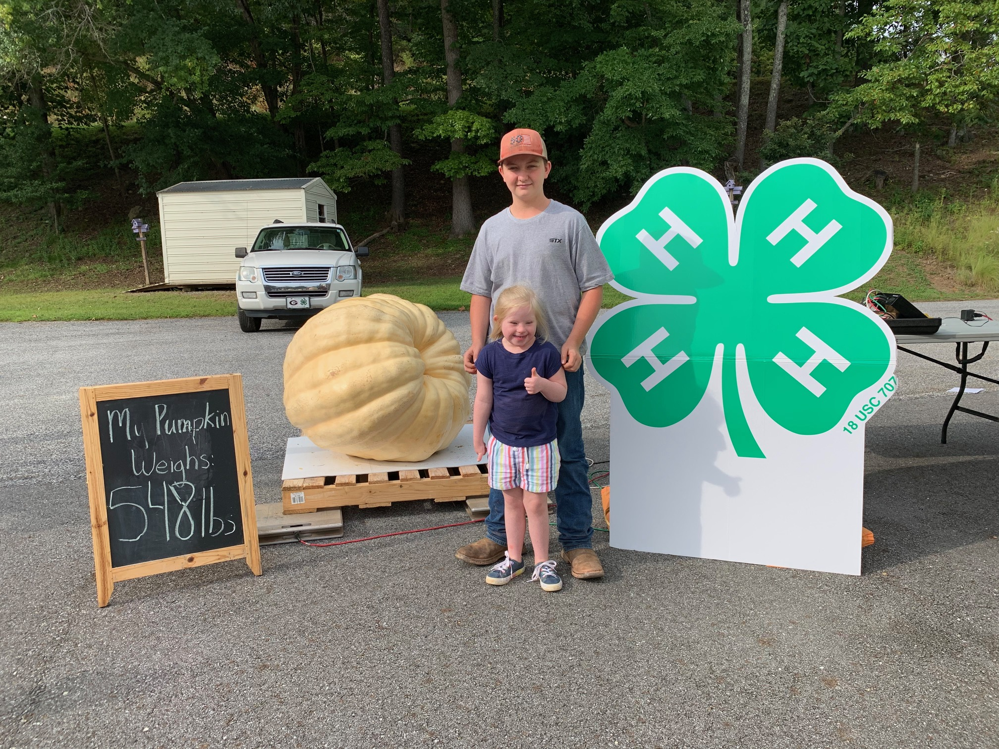 Peyton Collins of Union County had the prize-winning pumpkin, weighing 548 pounds.